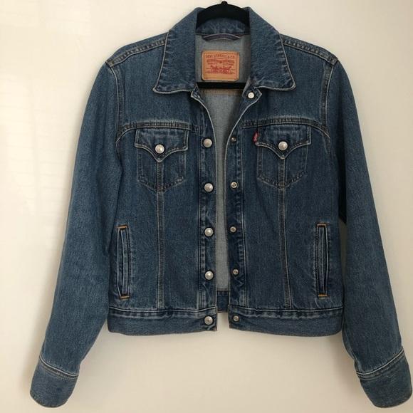 Levi's Denim Jacket Snap Front Jean Jacket Medium